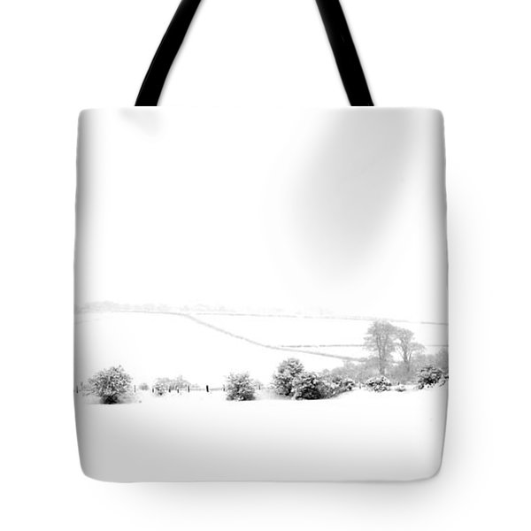 Tote Bag featuring the photograph Snowy Panorama by Liz Leyden