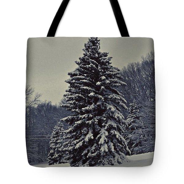 Snowy Pine 2   Tote Bag