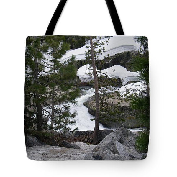 Tote Bag featuring the photograph Snowy Sierras by Bobbee Rickard