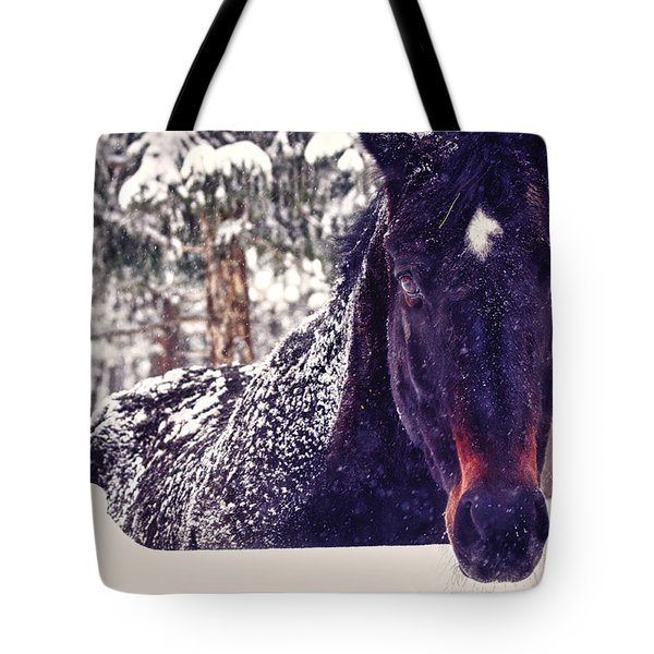 Snowy Spirit Tote Bag by Teri Virbickis