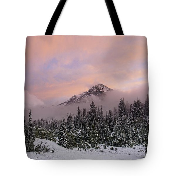 Snowy Surprise Tote Bag