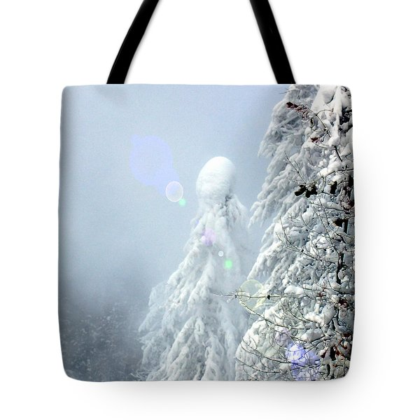Snowy Trees Tote Bag by Kae Cheatham