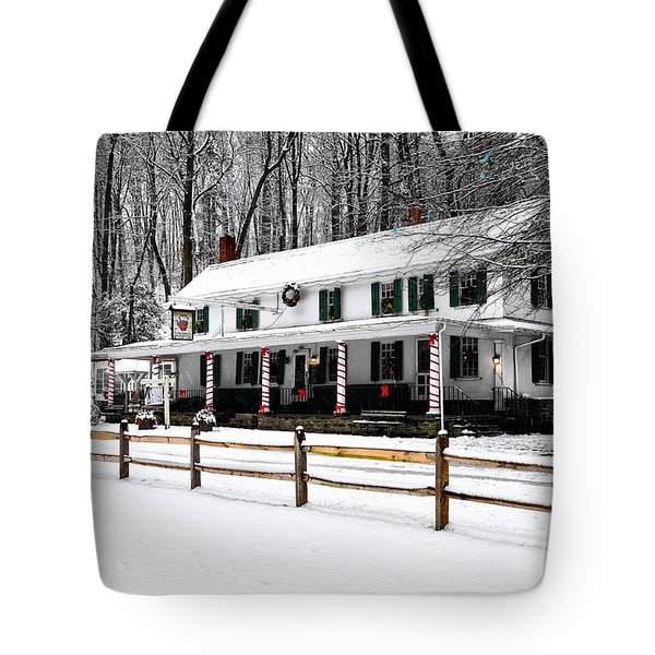 Snowy Valley Green Tote Bag by Bill Cannon