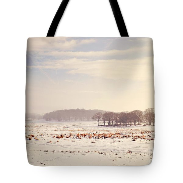 Snowy Valley Tote Bag