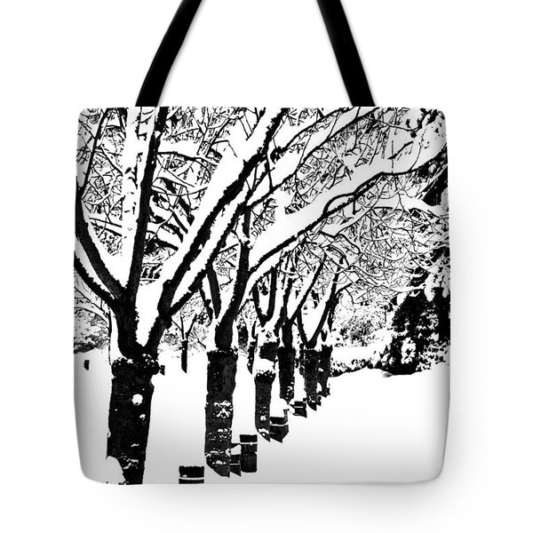 Snowy Walk Tote Bag
