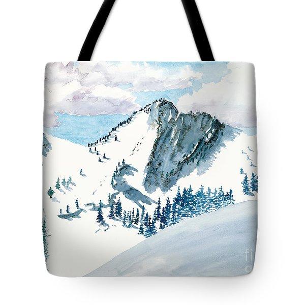 Snowy Wasatch Peak Tote Bag