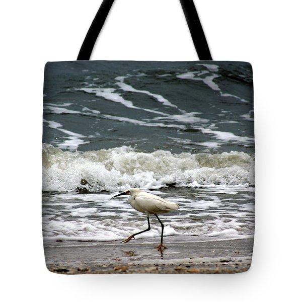 Snowy White Egret Tote Bag