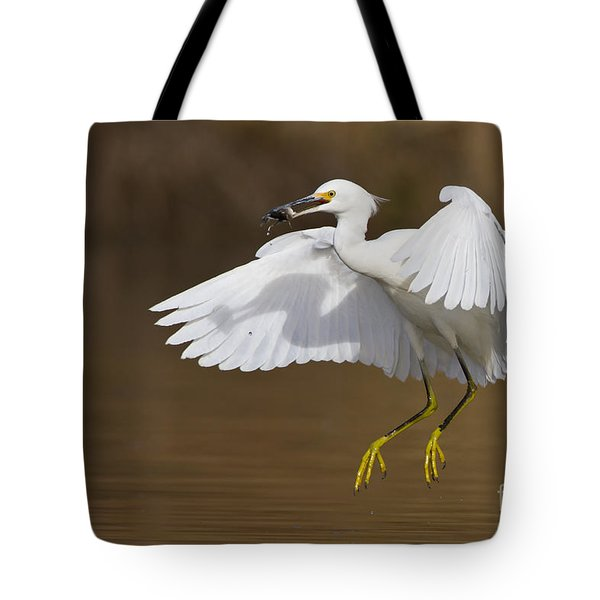 Snowy With A Fish Tote Bag