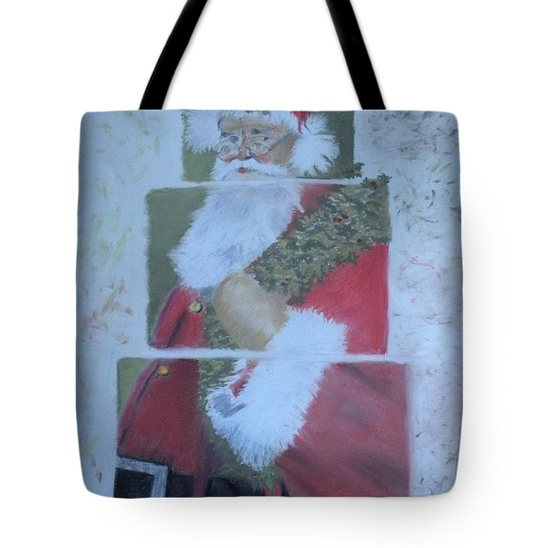 S'nta Claus Tote Bag by Claudia Goodell