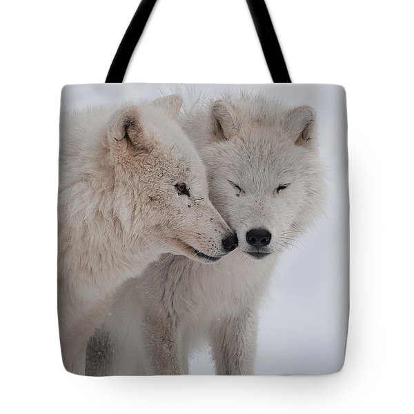 Tote Bag featuring the photograph Snuggle Buddies by Bianca Nadeau