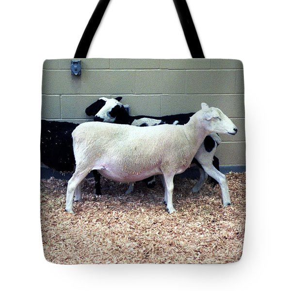 Snuggling Goats Tote Bag