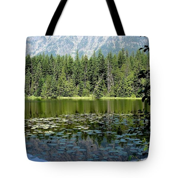 Tote Bag featuring the photograph Snyder Lake Reflection by Kerri Mortenson