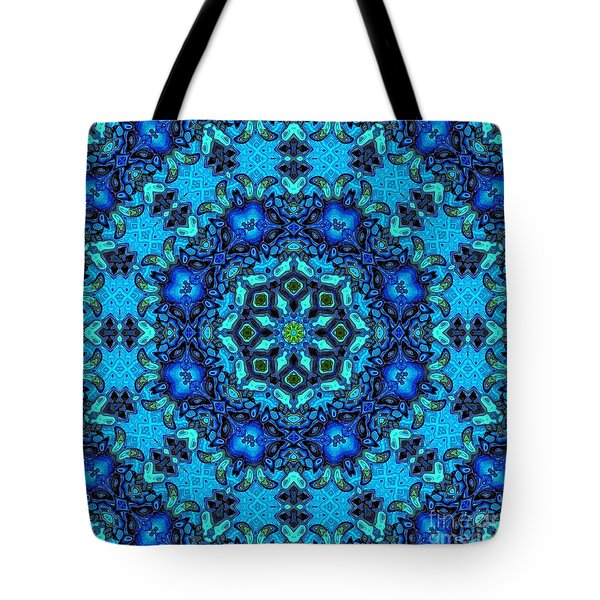 So Blue - 33 - Mandala Tote Bag