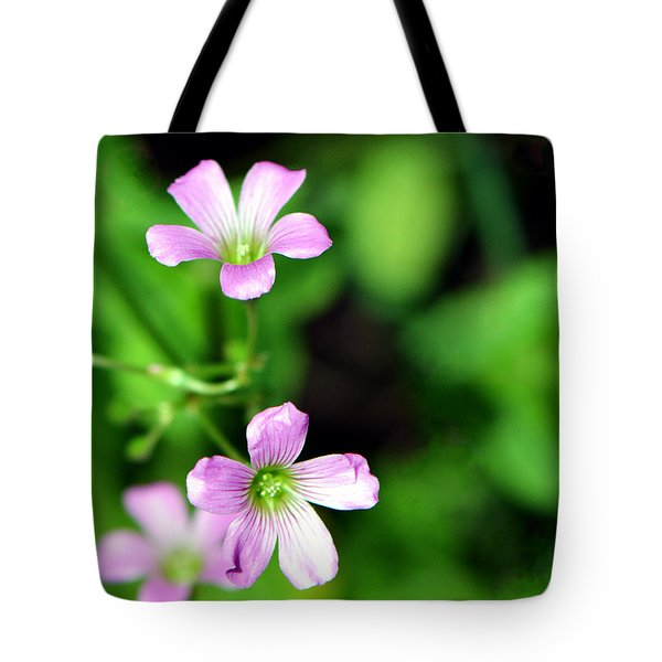 So Delicate In Purple. Texas Spring Perennial Tote Bag