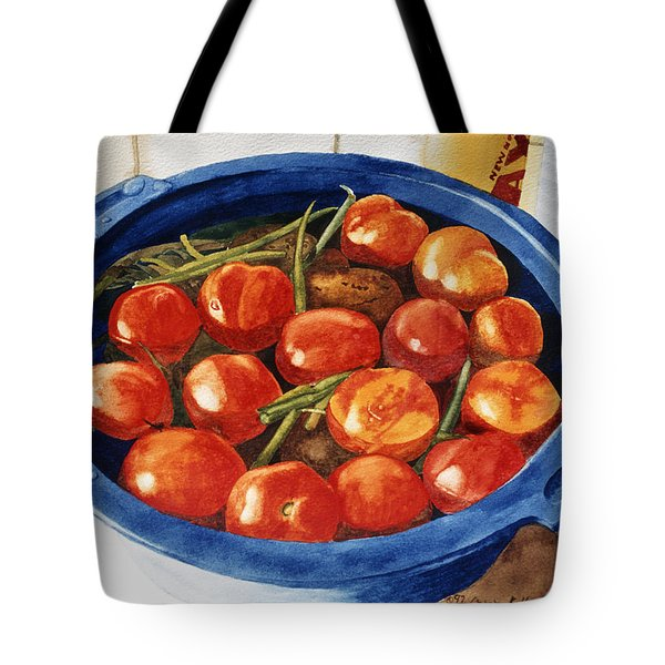Soaking Tomatoes Tote Bag