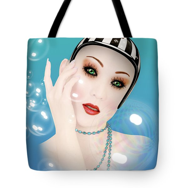 Soap Bubble Woman  Tote Bag