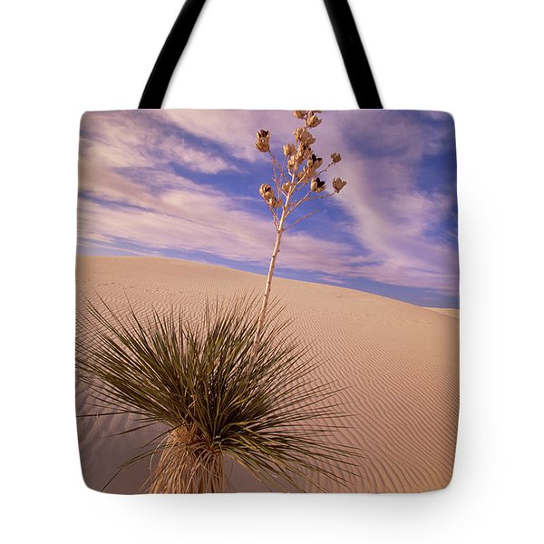 Soaptree Yucca  On Dune White Sands Tote Bag