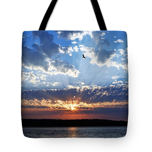 Soaring Sunset Tote Bag