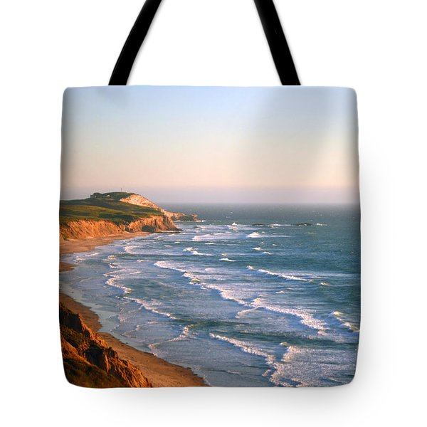 Tote Bag featuring the photograph Socal Coastline Sunset by Clayton Bruster