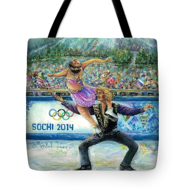 Sochi 2014 - Ice Dancing Tote Bag