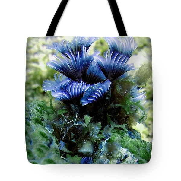 Tote Bag featuring the photograph Social Feather Duster Cluster - A Social Gathering by Amy McDaniel