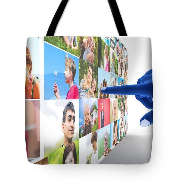 Social Media Network Tote Bag by Michal Bednarek