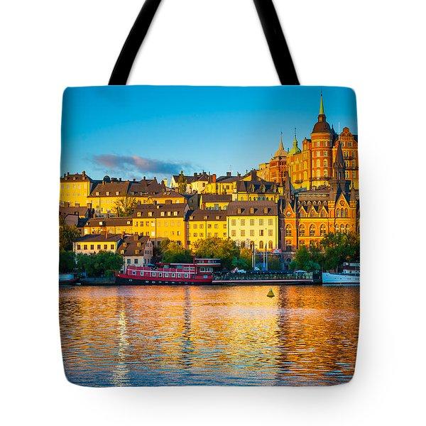 Sodermalm Skyline Tote Bag by Inge Johnsson