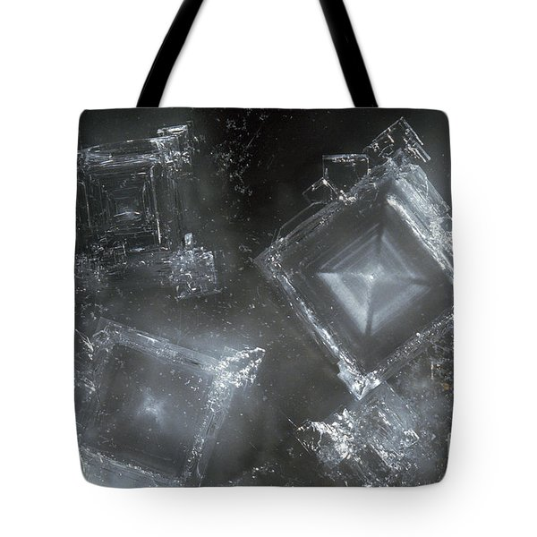 Sodium Hydroxide Crystals Tote Bag by Charles D Winters