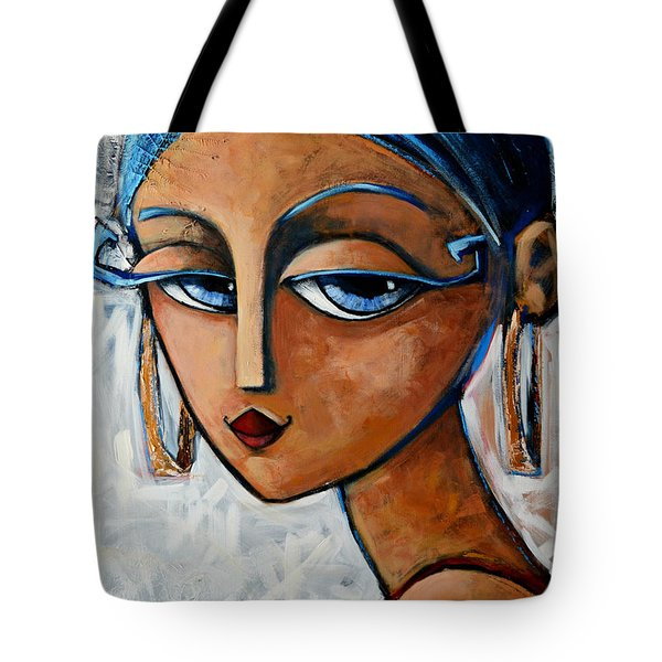 Tote Bag featuring the painting Sofia by Oscar Ortiz