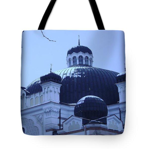 Sofia Synagogue In Bulgaria Tote Bag