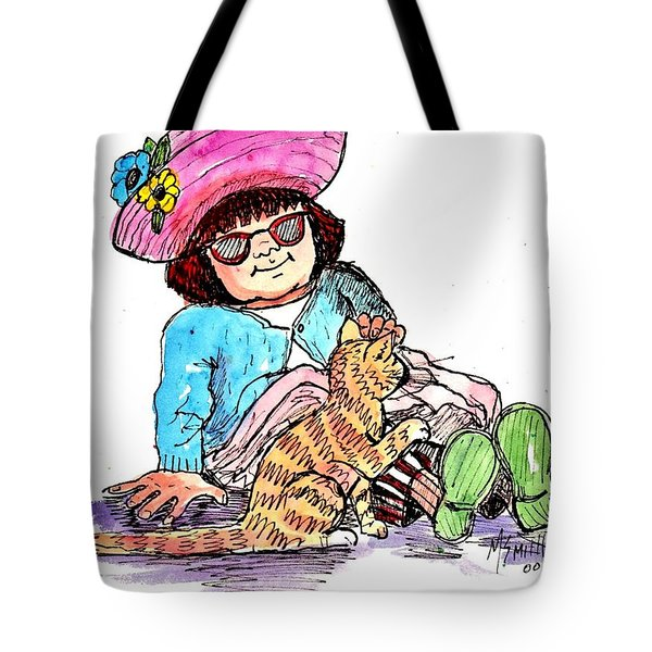Sofie And Mittens Tote Bag by Marilyn Smith