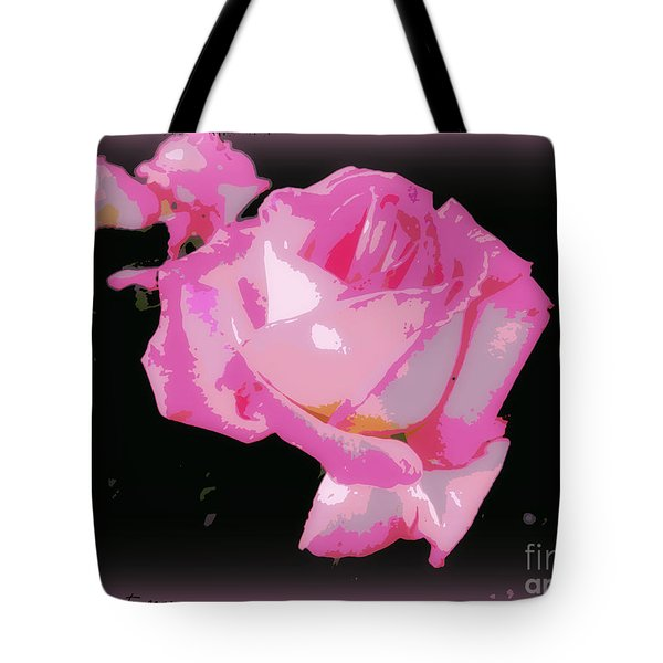 Tote Bag featuring the photograph Soft And Delicate Pink Rose by Leanne Seymour