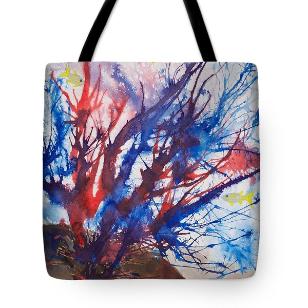 Soft Coral Splatter Tote Bag