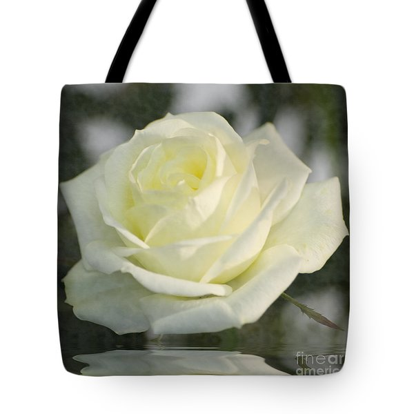 Soft Cream Rose Tote Bag by Brian Roscorla