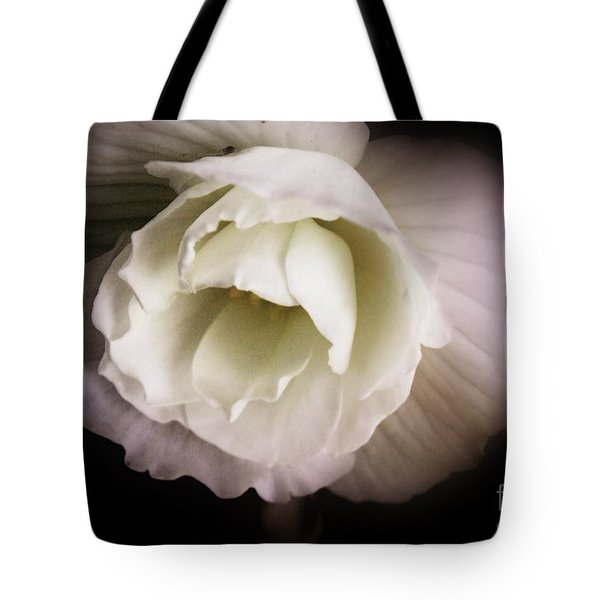 Soft Flower In Black And White Tote Bag by John S