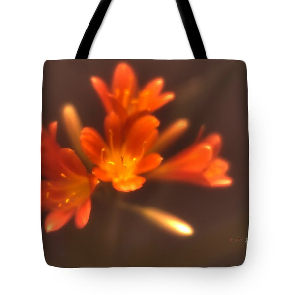 Tote Bag featuring the photograph Soft Focus Kaffir Lily by Richard J Thompson