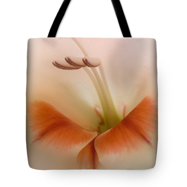 Soft Gladiolus Tote Bag by Brian Roscorla