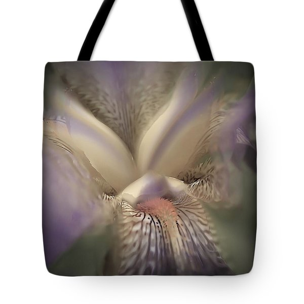 Soft Iris Flower Tote Bag