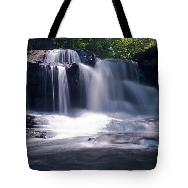Soft Light Dunloup Falls Tote Bag by Shelly Gunderson
