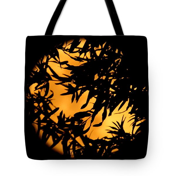 Soft Moon Silhouette Tote Bag