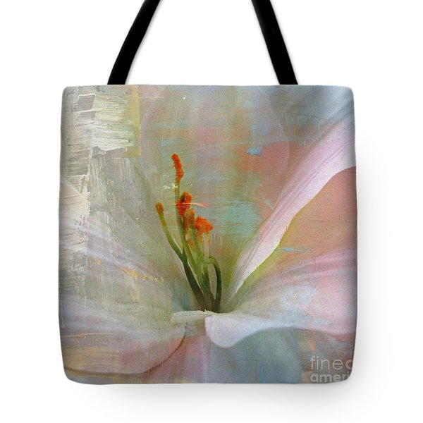 Soft Painted Lily Tote Bag by Judy Palkimas