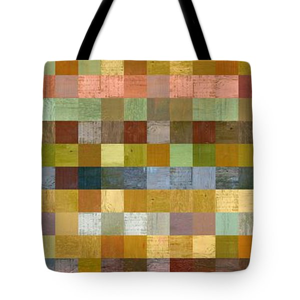 Soft Palette Rustic Wood Series Collage Ll Tote Bag by Michelle Calkins