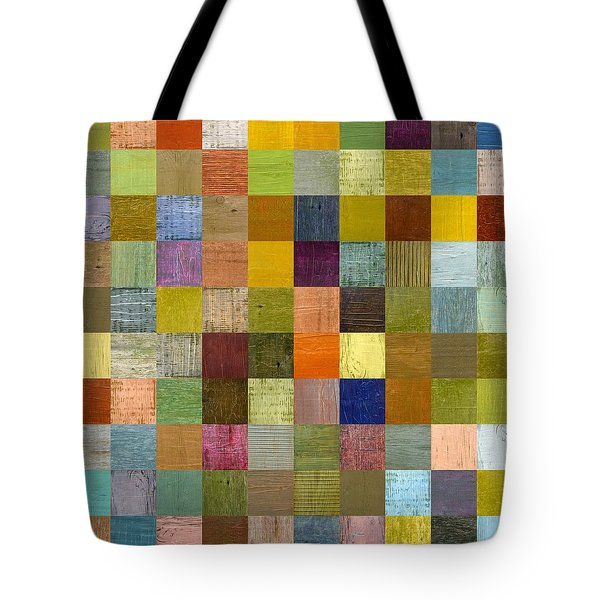 Soft Palette Rustic Wood Series With Stripes Lll Tote Bag