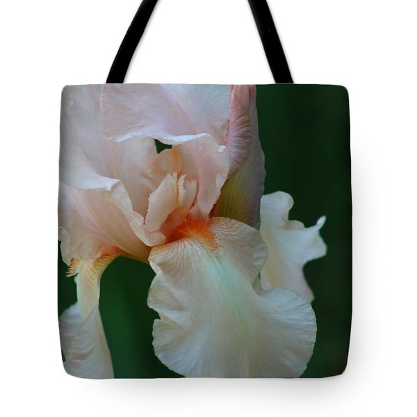 Soft Peach Iris Tote Bag