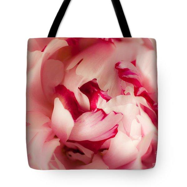 Soft Peony Tote Bag by Ana V Ramirez