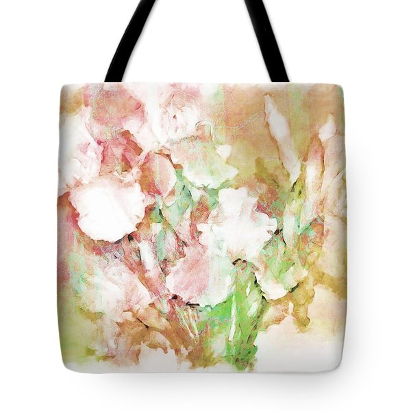 Soft Pink Iris Photo Art Tote Bag by Debbie Portwood
