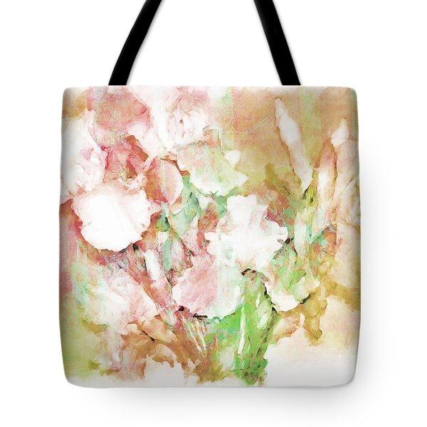 Soft Pink Iris Photo Art Tote Bag by Debbie Portwood