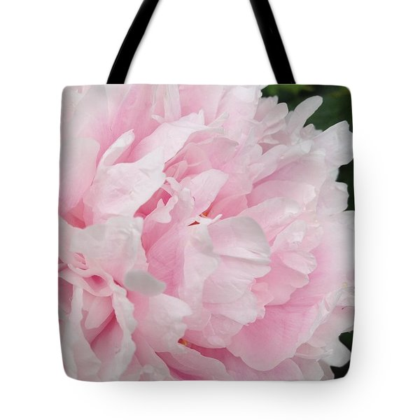 Tote Bag featuring the digital art Soft Pink Peony by Jeannie Rhode