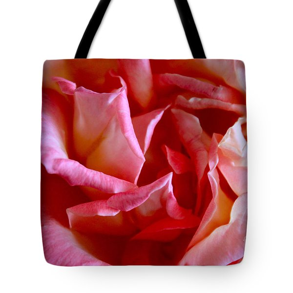 Tote Bag featuring the photograph Soft Pink Petals Of A Rose by Janice Rae Pariza