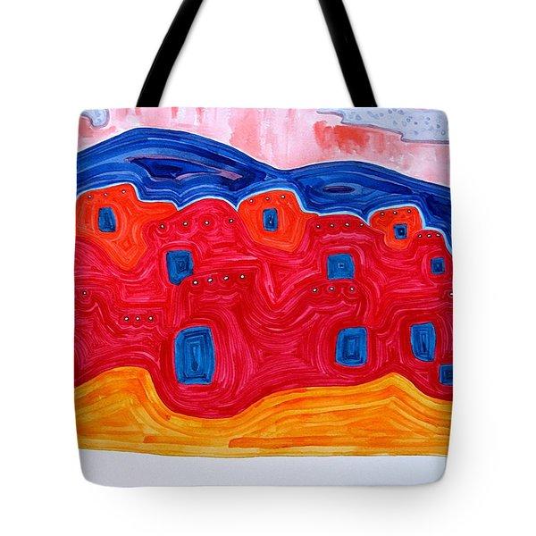 Soft Pueblo Original Painting Tote Bag